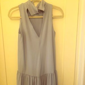 Eliza J robin blue drop waist dress